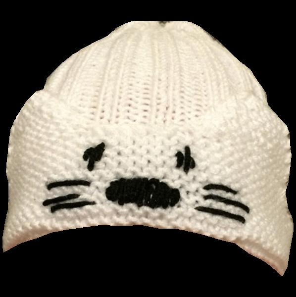 Mütze mit Tiergesicht
