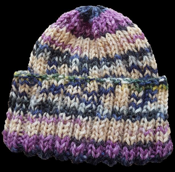 Frühchenmütze blau-lila
