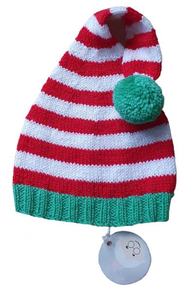 Zipfelmütze rot-weiß