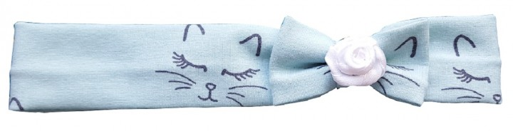 Haarband mint mit Katzenmotiv